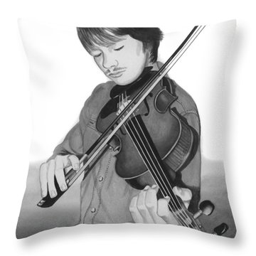 Throw Pillow featuring the painting Viola Master by Ferrel Cordle