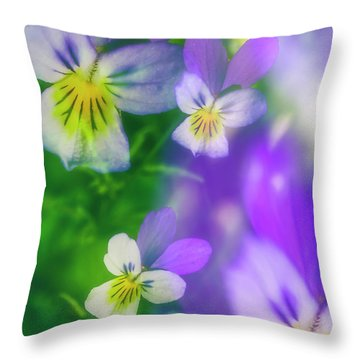 Viola Tricolor Throw Pillow