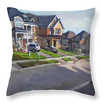 Viola's House In Georgetown On Throw Pillow