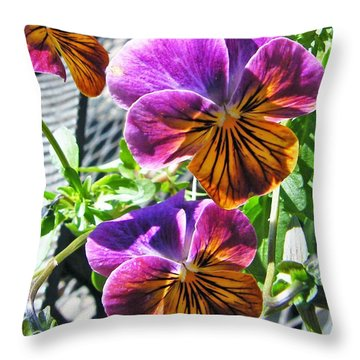 Violas Throw Pillow