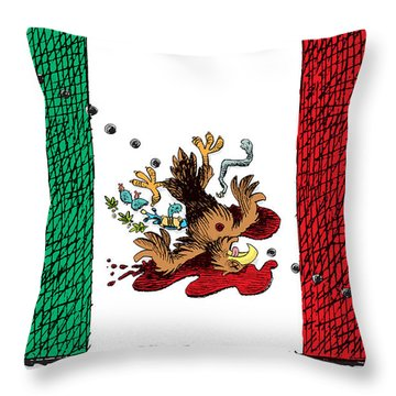Violence In Mexico Throw Pillow
