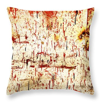 Violent Red Throw Pillow