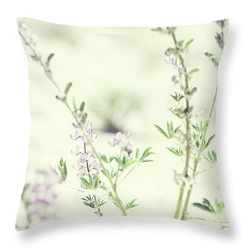 Violet And Green Bloom Throw Pillow