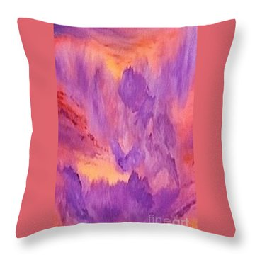 Violet Angel Throw Pillow by Holly Martinson
