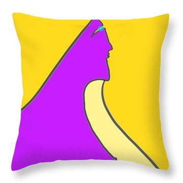 Violet Blonde Throw Pillow