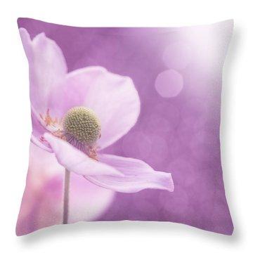 Violet Breeze Throw Pillow by Lisa Knechtel
