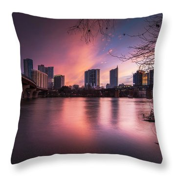 Violet Crown Throw Pillow