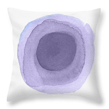 Violet Drops 2- Art By Linda Woods Throw Pillow