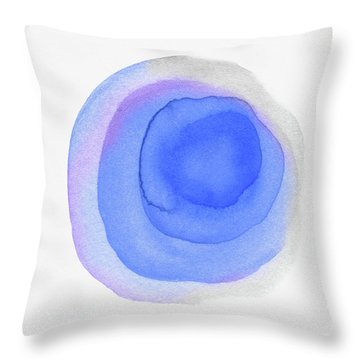 Violet Drops 3- Art By Linda Woods Throw Pillow