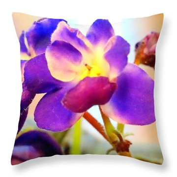 Violet In Bloom Throw Pillow