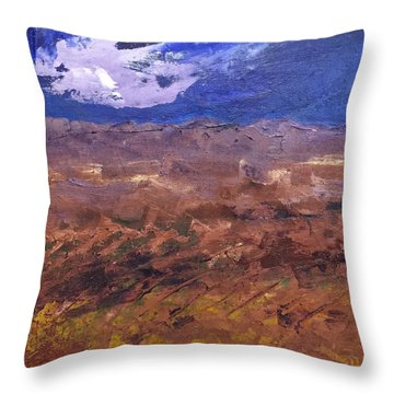 Violet Night  Throw Pillow