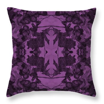 Violet Oak Tree Pattern Throw Pillow