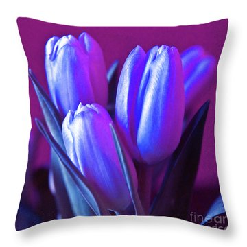 Violet Poetry Of Spring Throw Pillow