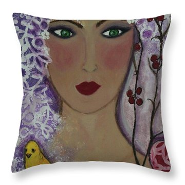 Violet Queen Throw Pillow