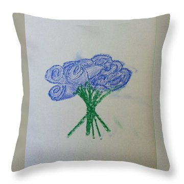 Violet Roses  Throw Pillow by Alohi Fujimoto