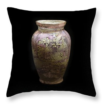 Violet Vase Throw Pillow