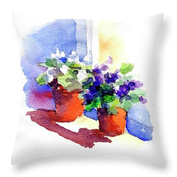 Violets Are Blue Throw Pillow