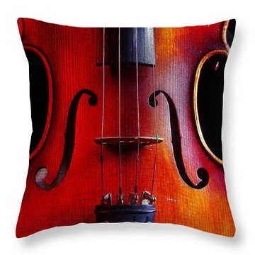Violin # 2 Throw Pillow by Jim Mathis