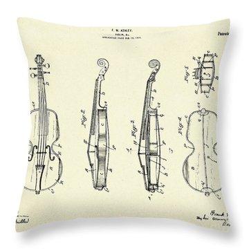 Violin-1921 Throw Pillow