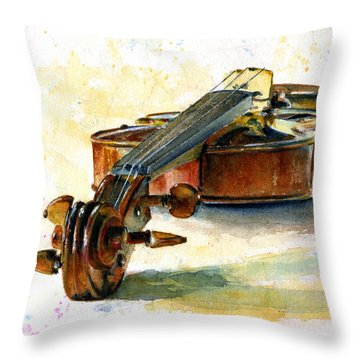 Violin 2 Throw Pillow