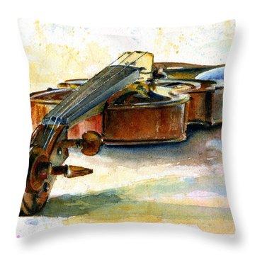 Violin 2 Throw Pillow by John D Benson