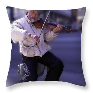 Violin Guy Throw Pillow