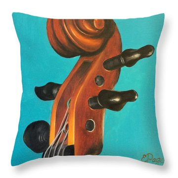Violin Head Throw Pillow