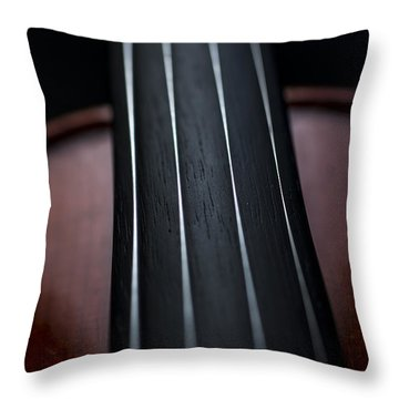 Violin Portrait Music 3 Throw Pillow by David Haskett