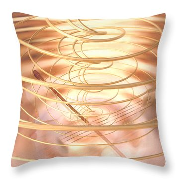Violin Throw Pillow by Robby Donaghey