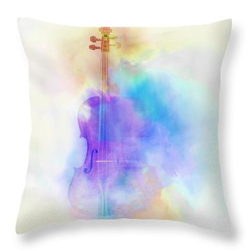 Violin Throw Pillow by Scott Meyer