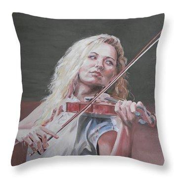 Violin Solo Throw Pillow