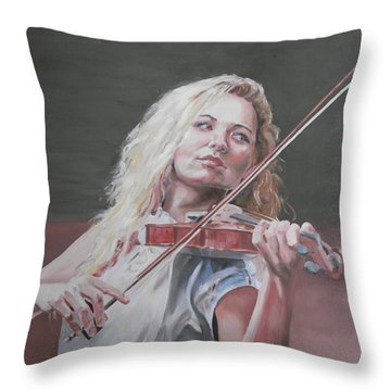 Violin Solo Throw Pillow