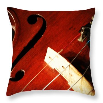 Violin Bridge Throw Pillow by Heather Classen