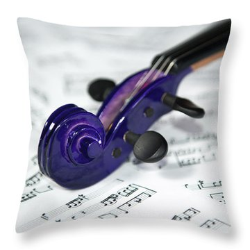 Violin Tuning Pegs  Throw Pillow