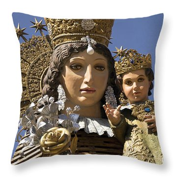 Virgen De Los Desamparados Throw Pillow