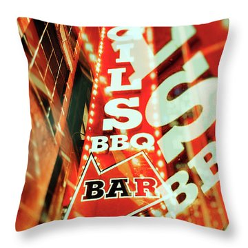 Virgils Real Bbq New York City Throw Pillow