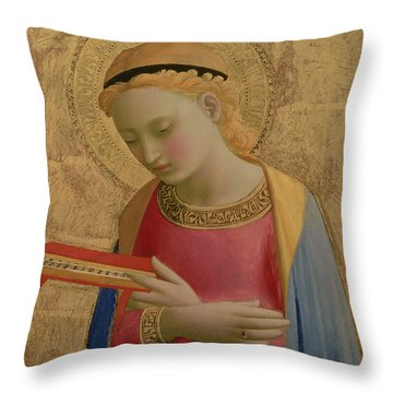 Virgin Annunciate Throw Pillow by Fra Angelico