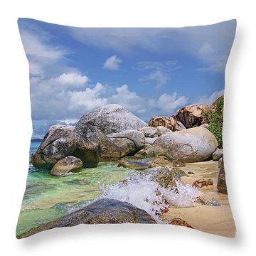 Throw Pillow featuring the photograph Virgin Gorda The Baths by Olga Hamilton