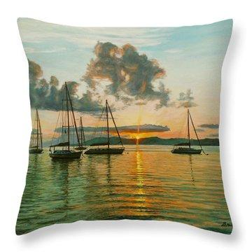 Virgin Islands Throw Pillow by Bruce Dumas