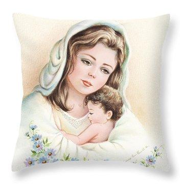 Virgin Throw Pillow
