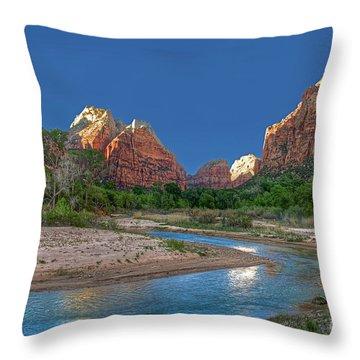 Virgin River Bend Throw Pillow