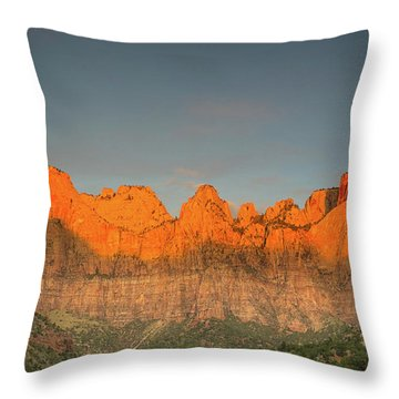 Virgin Sunset Throw Pillow