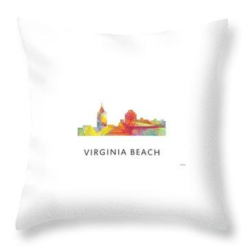 Virginia Beach  Virginia Skyline Throw Pillow