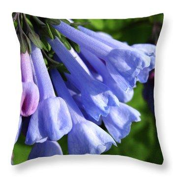 Virginia Blue Bells Throw Pillow