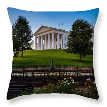 Virginia Capitol Building Throw Pillow