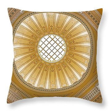 Virginia Capitol - Dome Throw Pillow