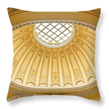 Virginia Capitol - Dome Profile Throw Pillow