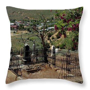 Virginia City Cemetery Broken Gate Throw Pillow by LeeAnn McLaneGoetz McLaneGoetzStudioLLCcom