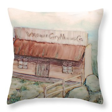 Virginia City Mining Co. Throw Pillow