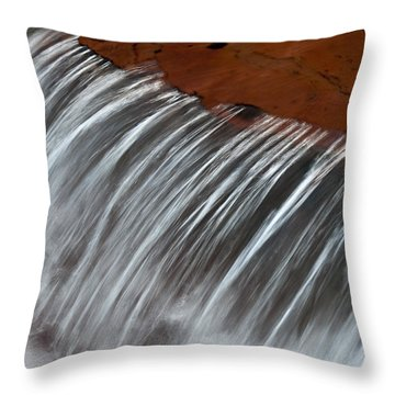Throw Pillow featuring the photograph Virginia Falls Glacier National Park by Kevin Blackburn